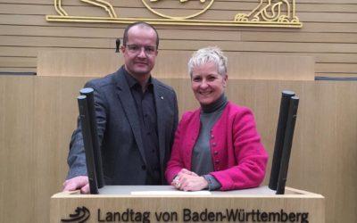 Besuch im Landtag Baden-Württemberg